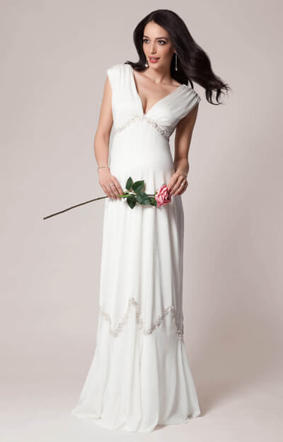 Constellation Maternity Wedding Gown (Ivory)