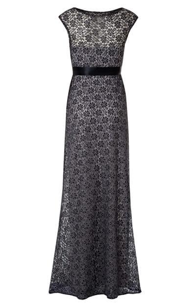 56af24246 Robe de Grossesse Daisy Longue (Argent Noir) - Robes de maternité de ...