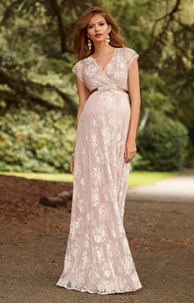 Eden Maternity Gown Long Blush by Tiffany Rose