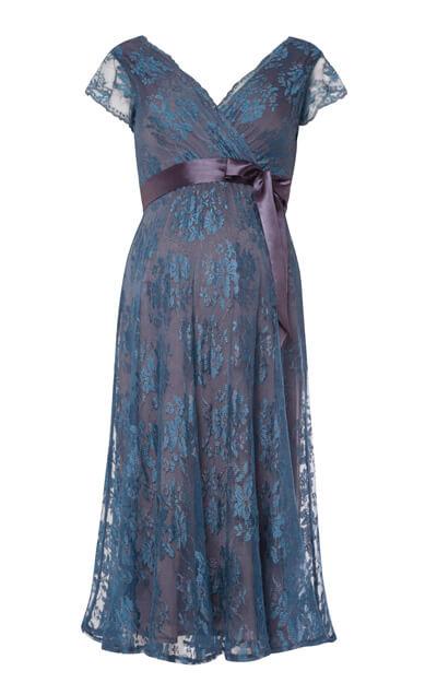 Eden Maternity Gown Short Caspian Blue Maternity