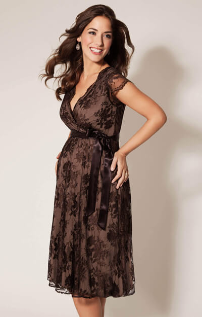Eden Maternity Gown Short Chocolate by Tiffany Rose