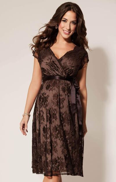 robe de grossesse eden chocolat robes de maternit de mari e tenues de maternit de soir e. Black Bedroom Furniture Sets. Home Design Ideas