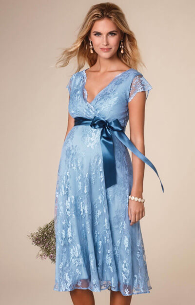 Eden Maternity Gown Short Dusk Blue - Maternity Wedding Dresses ...