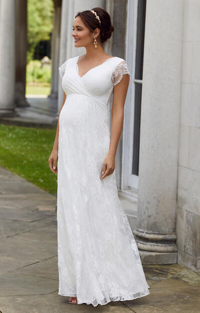 Eden Maternity Wedding Gown Long (Ivory Dream)