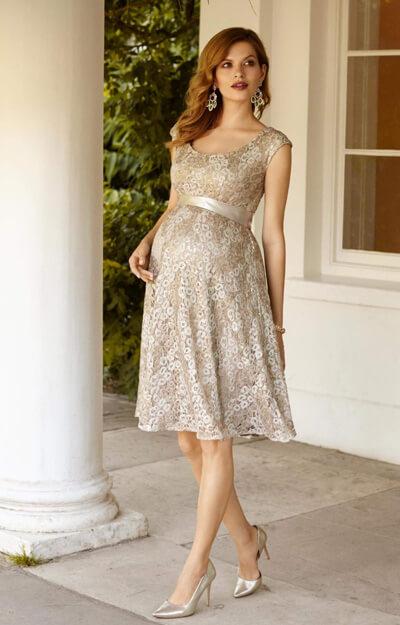 Eliza Maternity Dress Short Gold Rush Maternity Wedding