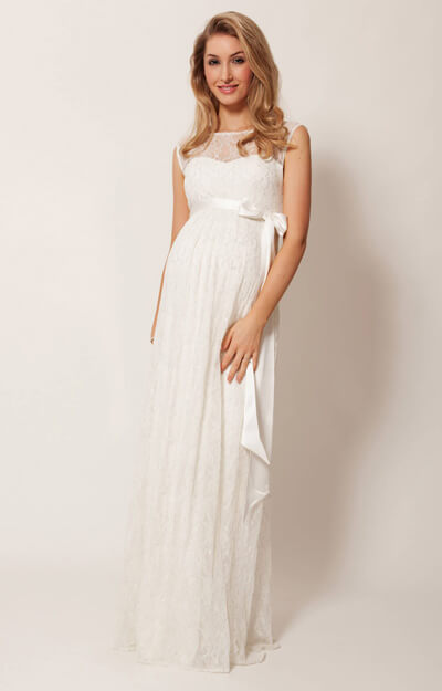 Ellie Maternity Wedding Gown Long Ivory