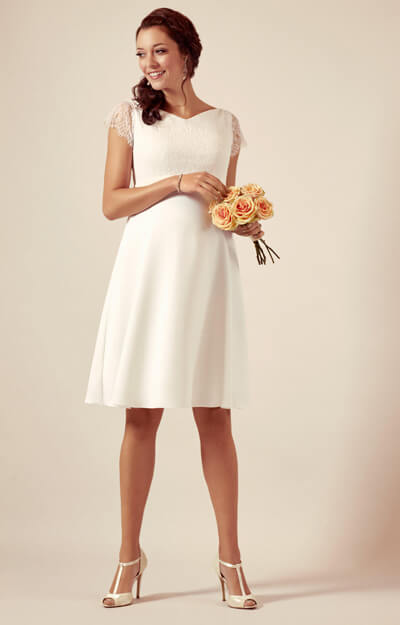 Eleanor Maternity Wedding Dress Ivory White by Tiffany Rose