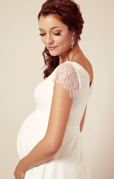 Eleanor Maternity Wedding Dress Ivory White