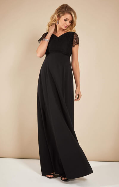 Eleanor Maternity Gown Black