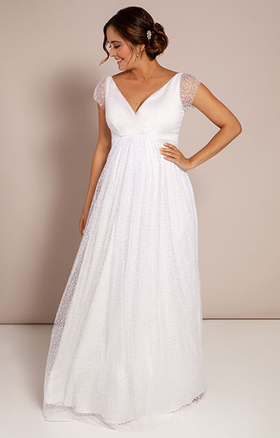 Elodie Maternity Gown White Snow by Tiffany Rose