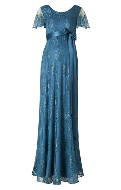 Elsa Maternity Gown Long Lagoon Blue - Maternity Wedding Dresses ...