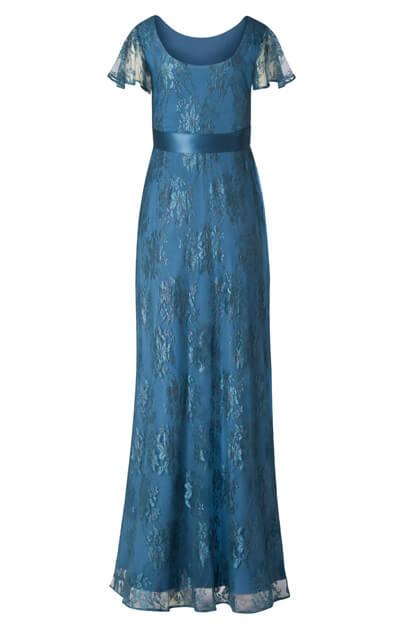 Elsa Maternity Gown Long Lagoon Blue - Maternity Wedding Dresses ...