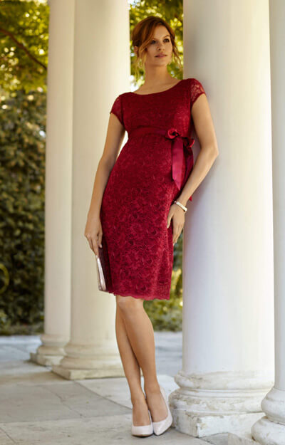Emma Maternity Shift Dress Scarlet by Tiffany Rose