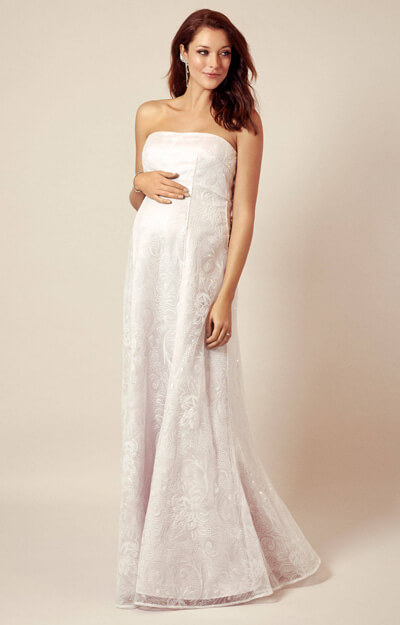 Evita Maternity Gown Antique Shimmer