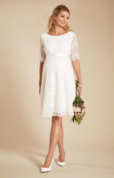 Faye Maternity Wedding Dress Ivory White
