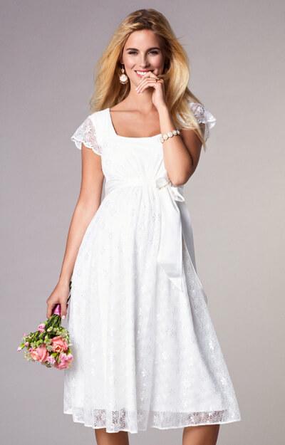 1431324d154 Florence Maternity Wedding Dress Short Ivory - Maternity Wedding ...