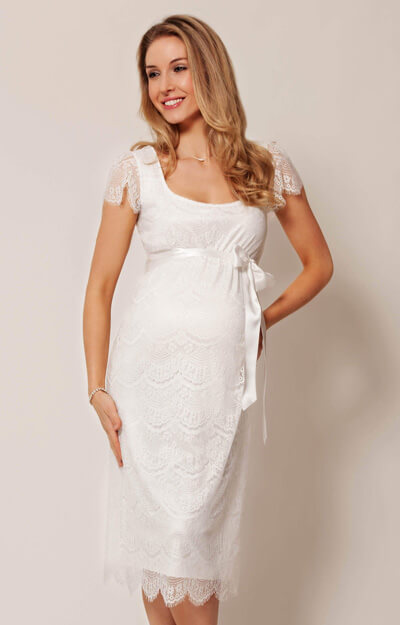 941086dd7c60a Flutter Maternity Dress Ivory - Maternity Wedding Dresses, Evening ...