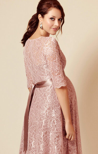 Flossie Maternity Dress Short Orchid Blush