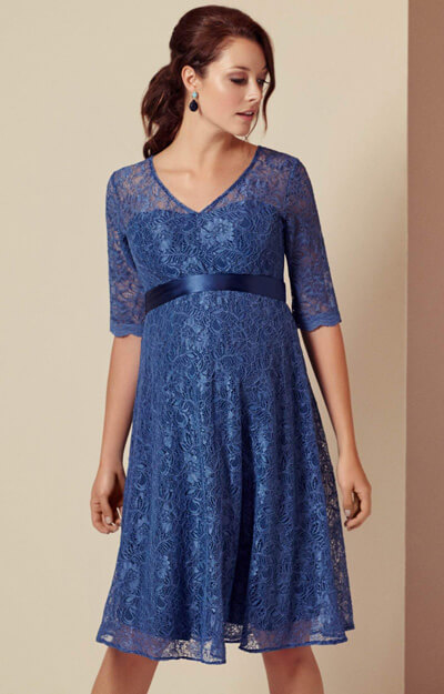 Flossie Maternity Dress Short Riviera Blue by Tiffany Rose