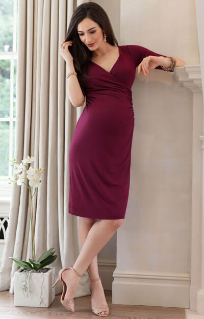 Francesca Maternity Dress Mulberry
