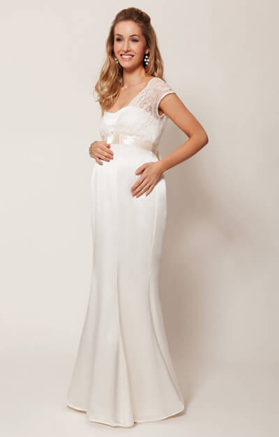 Georgia Maternity Wedding Gown (Vintage Ivory) - Maternity Wedding ...