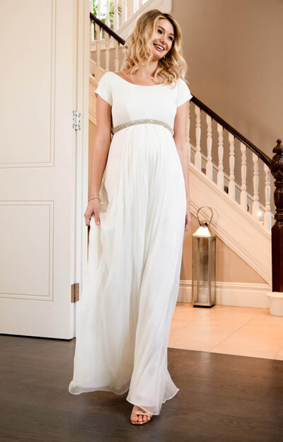 Greta Maternity Wedding Gown Long Ivory by Tiffany Rose
