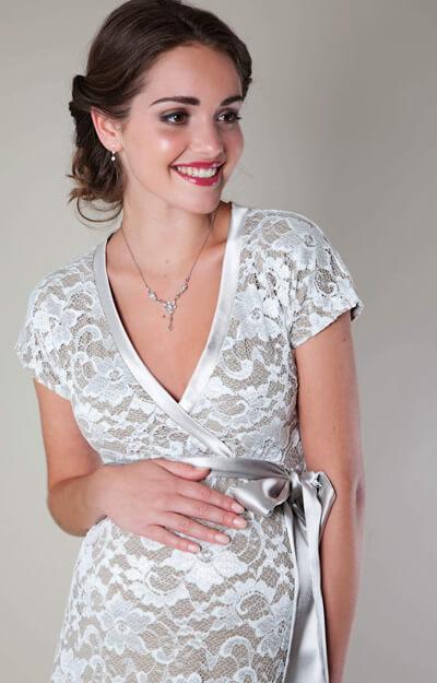 3af596d26a9 Grace Lace Maternity Dress Long (Ivory) - Maternity Wedding Dresses ...