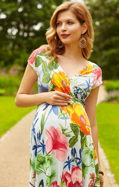 Congratulations, PaddleAddict! You will have no shortage of cute summery, tropical clothing to choose from, and I say why bother to hunt down specialty maternity shops, when the style is to show off that precious baby bump?
