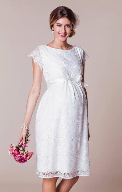 Harriet Maternity Dress Short Bright Ivory Maternity