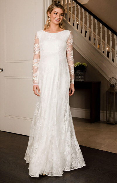 Helena Maternity Wedding Gown Long Ivory
