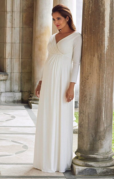 Isabella Maternity Gown Glitter Ivory by Tiffany Rose