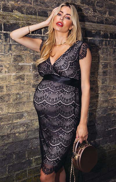 Imogen Maternity Shift Dress Black