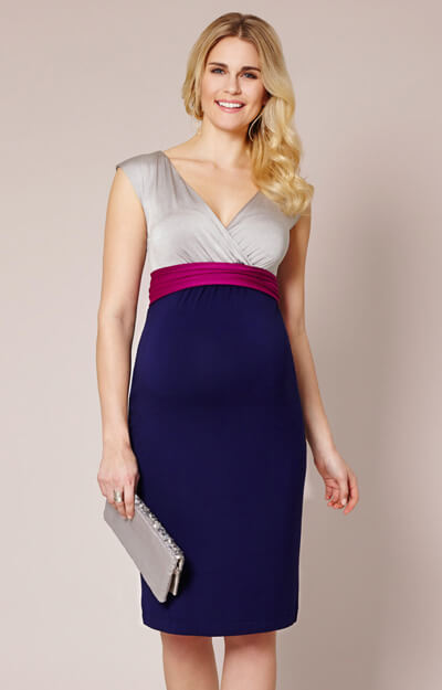 Jewel Block Maternity Dress Eclipse