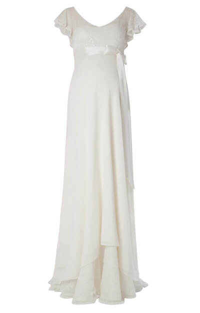 Juliette Maternity Gown (Ivory) by Tiffany Rose