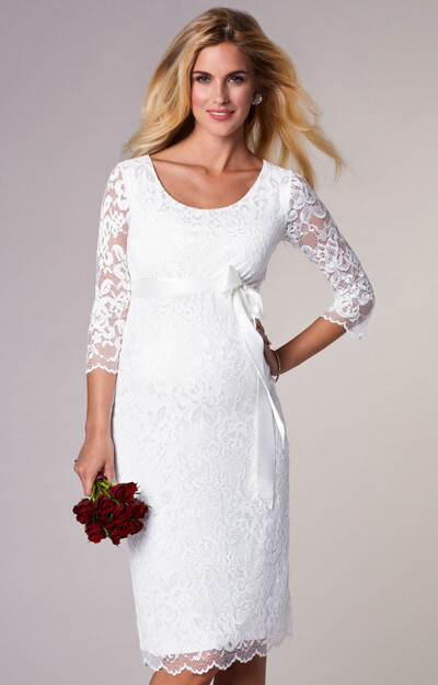 Katie Maternity Wedding Dress Short Ivory by Tiffany Rose