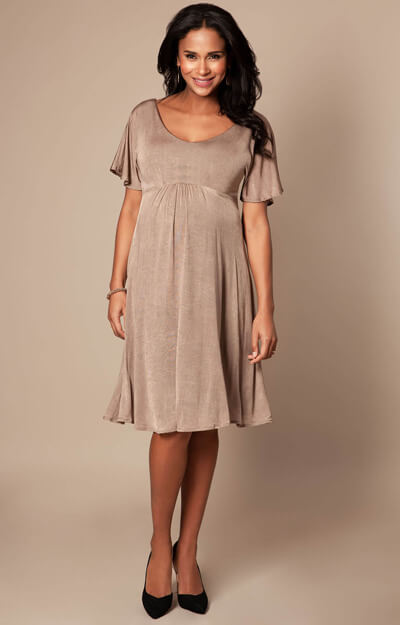 Kimono Maternity Dress short Sand Dune