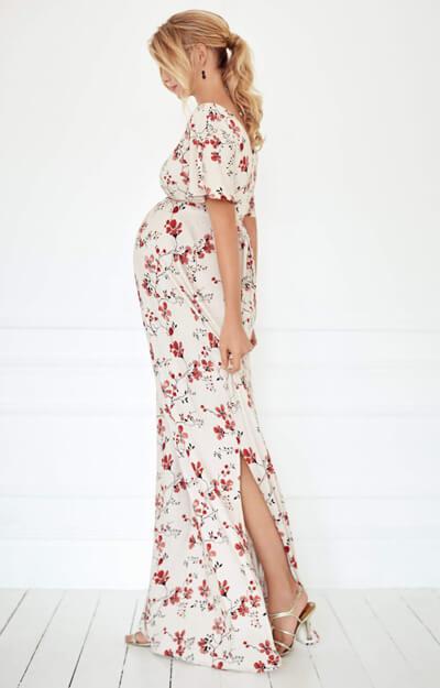 White maternity maxi dress australia