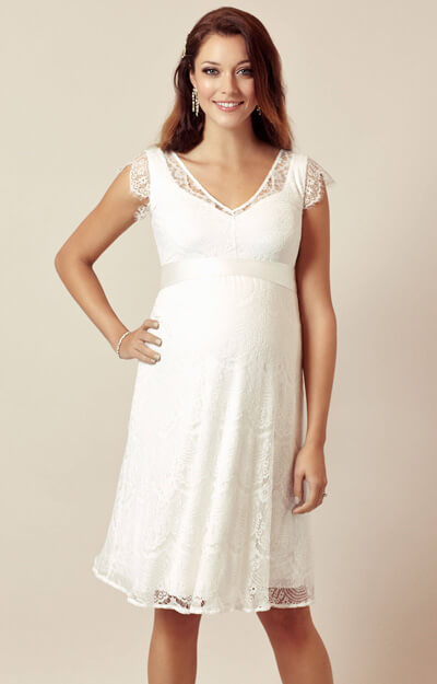 Kristin Maternity Wedding Dress Ivory White by Tiffany Rose
