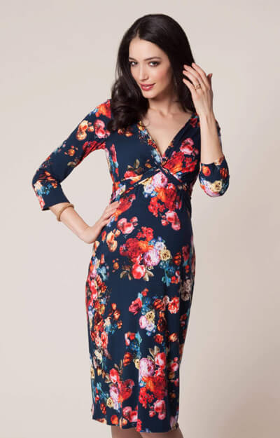 Lara Maternity Dress Midnight Garden
