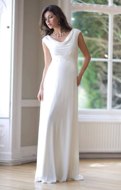 Liberty Maternity Wedding Gown (Ivory) by Tiffany Rose