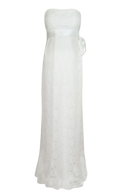 Liara Maternity Wedding Lace Gown Long Ivory