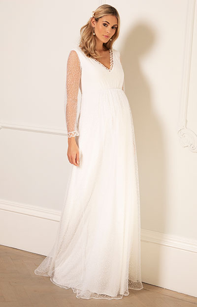 Lily Maternity Wedding Gown by Tiffany Rose