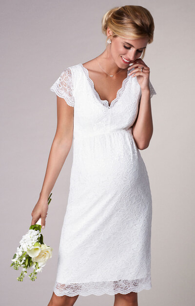 Laura Maternity Wedding Lace Dress Ivory by Tiffany Rose