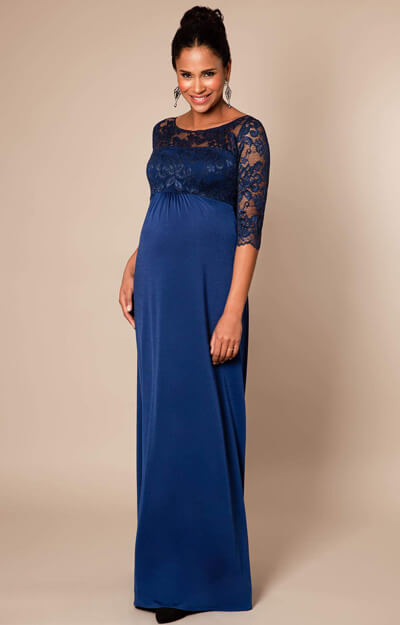 Lucia Maternity Gown Long Imperial Blue by Tiffany Rose
