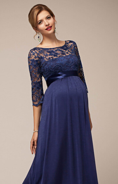 Lucia Maternity Gown Windsor Blue Maternity Wedding