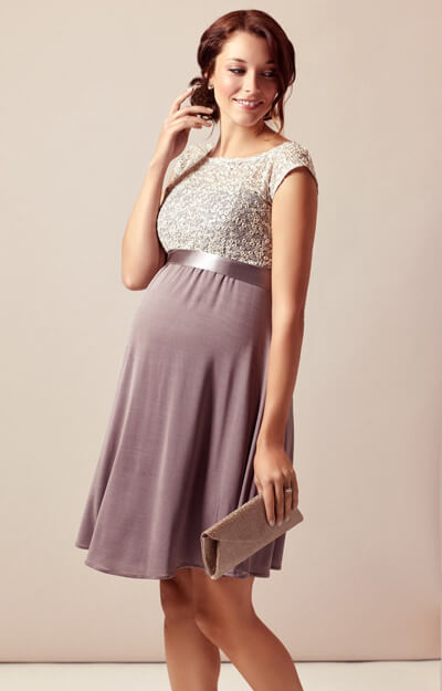 Mia Maternity Dress Dusky Truffle