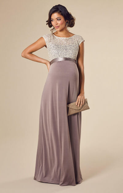 Mia Maternity Gown Dusky Truffle by Tiffany Rose