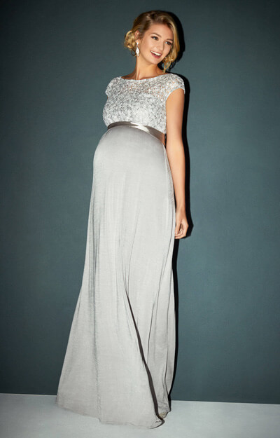 Mia Maternity Gown Silver by Tiffany Rose