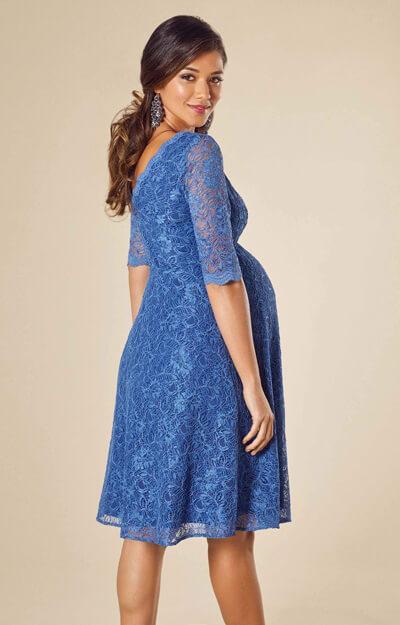 Noelle Maternity Dress Short Riviera Blue - Maternity Wedding ...