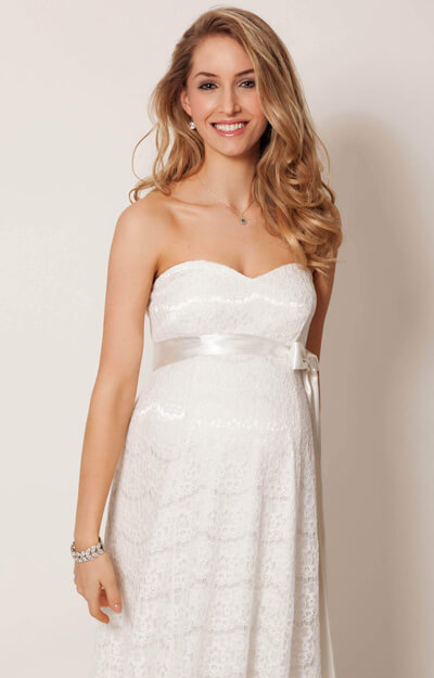 Olivia Maternity Wedding Gown (Ivory)